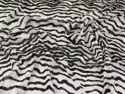 Polyester Chiffon Fabric  Black & White