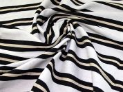 Cotton Shirting Fabric  Black White & Cream