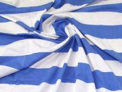 Polyester Jersey Fabric  Blue & White