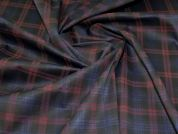 Polyester Jersey Fabric  Navy & Wine