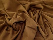 Cotton Moleskin Fabric  Tan Brown