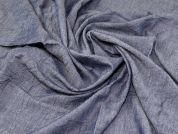 Crinkle Chambray Denim Fabric  Blue