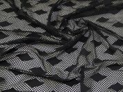 Fishnet Mesh Fabric  Black