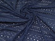 Cotton Jersey Fabric  Navy Blue