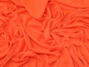 Plain Viscose Single Stretch Jersey Knit Dress Fabric  Bright Orange