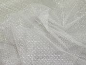 Lurex Net Fabric  White Silver