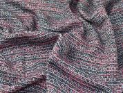 Tweed Coating Fabric  Pink Multi