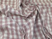 Check Coating Fabric  Rose Pink