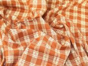Check Suiting Fabric  Orange