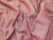 Geometric Woven Fabric  Rose Pink