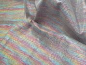 Lurex Rainbow Denim Fabric  Multicoloured