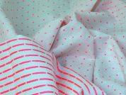 Reversible Neon Suiting Fabric  Pink & White