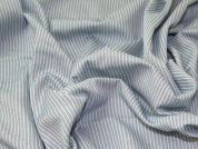 Stripe Suiting Fabric  Pale Blue