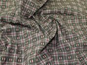 Check Suiting Fabric  Green