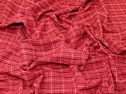 Check Suiting Fabric  Red