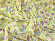 Dobby Chiffon Fabric  Yellow