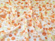 Dobby Chiffon Fabric  Orange