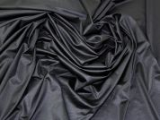 Glossy Jersey Knit Fabric  Black