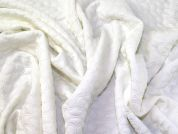 Textured Jersey Knit Fabric  Cream