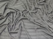 Lurex Lace Jersey Knit Fabric  Silver Grey