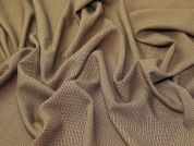 Check Suiting Fabric  Camel