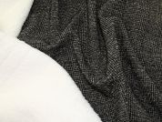 Reversible Lurex & Sherpa Coating Fabric  Black & Cream