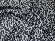 Animal Print Jersey Knit Fabric  Black & Grey