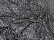 3D Fishnet Mesh Fabric  Black & White