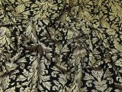 Foil Print Scuba Crepe Knit Fabric  Black & Gold