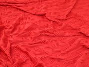 Textured Jersey Knit Fabric  Red