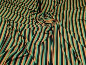 Viscose Jersey Knit Fabric  Green, Black & Tan