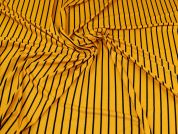Viscose Jersey Knit Fabric  Mustard & Black
