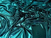 Metallic ITY Knit Fabric  Turquoise