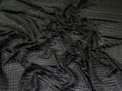 Pleated Stretch Mesh Fabric  Black