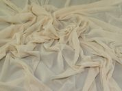 Stretch Mesh Fabric  Cream