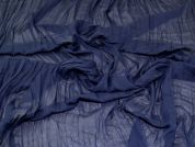 Pleated Chiffon Fabric  Navy