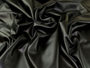 Faux Leather Knit Fabric  Black
