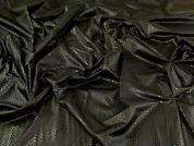 Foiled ITY Knit Fabric  Black