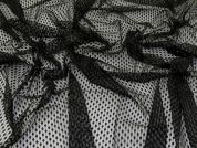 Metallic Lace Fabric  Black & Gold