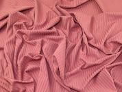Jersey Rib Knit Fabric  Rose Pink