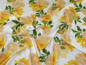 Floral Jersey Knit Fabric  Yellow