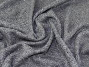 Lurex Wool Blend Coating Fabric  Grey