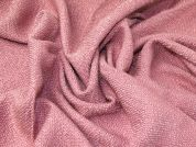 Wool Blend Coating Fabric  Rose Pink