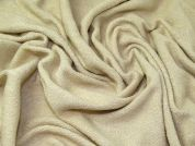 Lurex Textured Knit Fabric  Cream