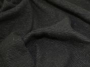 Textured Wool Knit Fabric  Black