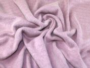 Brushed Heavy Wool Knit Fabric  Rose Pink