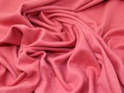 Wool Blend Coating Fabric  Coral Pink