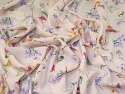 Floral Crepe Fabric  Peach Pink