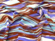 Stripes Crepe Fabric  Purple