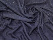 Lurex Open Knit Fabric  Navy & Gold